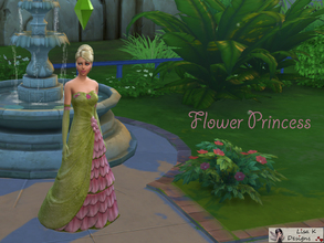 Sims 4 — Flower Princess by lisakdesigns — A beautiful floral and glitter gown - fit for a princess! Your lady will be