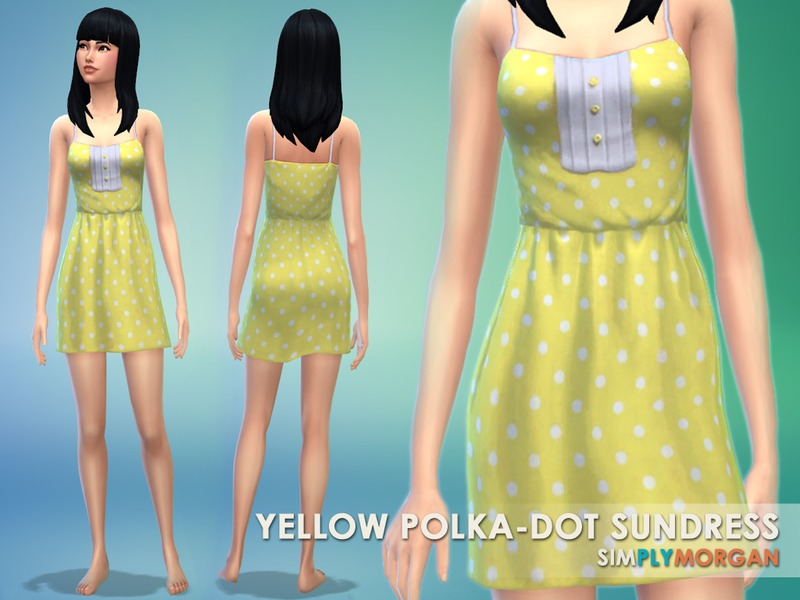 65f0efbe2f SimplyMorgan77 s Yellow Polka-Dot Sundress