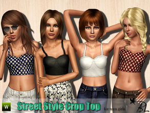 Sims 3 — Teen Street Style Crop Top by Black_Lily — Street Style Crop Top for teen girls. Everyday/Sleepwear/Athletic
