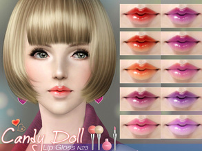 Sims 3 — S-Club_ts3-makeup-lipstick_N23 by S-Club — Hey everyone! These are lipsticks from N22 to N27. Hope you like it,