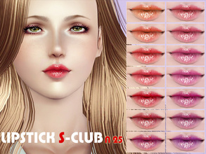 Sims 3 — S-Club_ts3-makeup-lipstick_N25 by S-Club — Hey everyone! These are lipsticks from N22 to N27. Hope you like it,