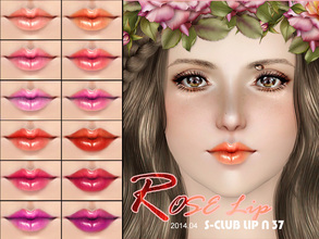 Sims 3 — S_Club_ts3_Lip_N37 by S-Club — Hey everyone! These are lipsticks from N32 to N37 of our collection. Hope you