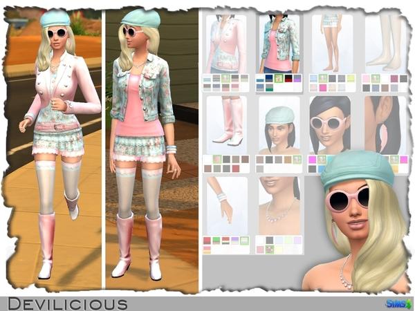 Модная одежда в симс 4