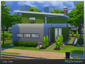 Sims 4 — Lazy Lime by MissDaydreams — Lazy Lime is a perfect house for chill-out time. Lots of green in the garden will