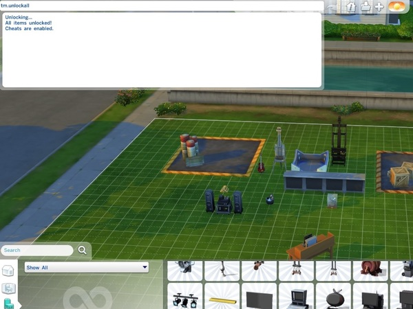 Sims  Unlock Everything In Build Mode