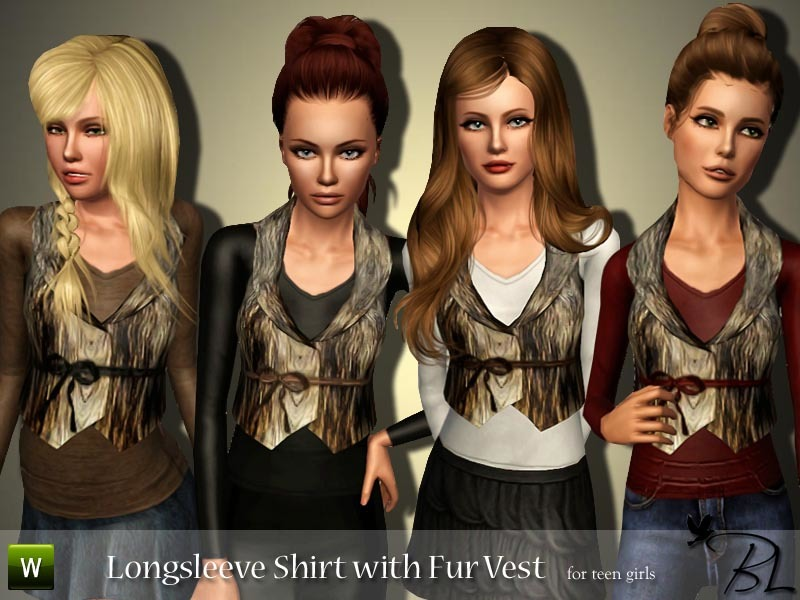 Collared faux fur jacket 02 the sims 4 download simsdomination.