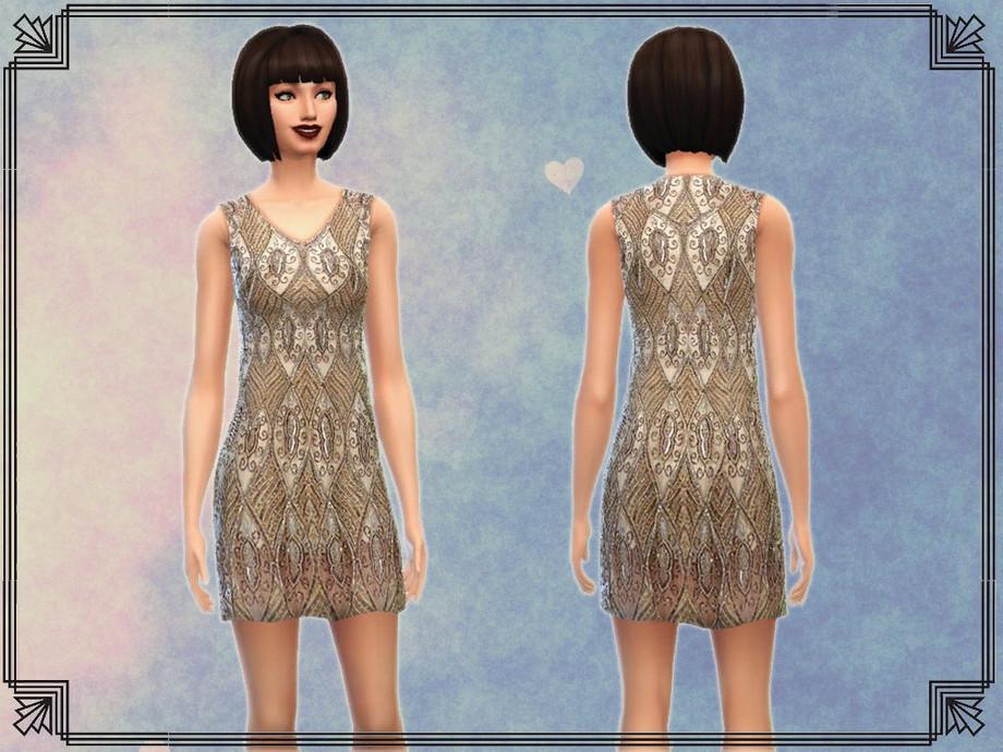 Notegain S Glamour Art Deco Inspired Dress
