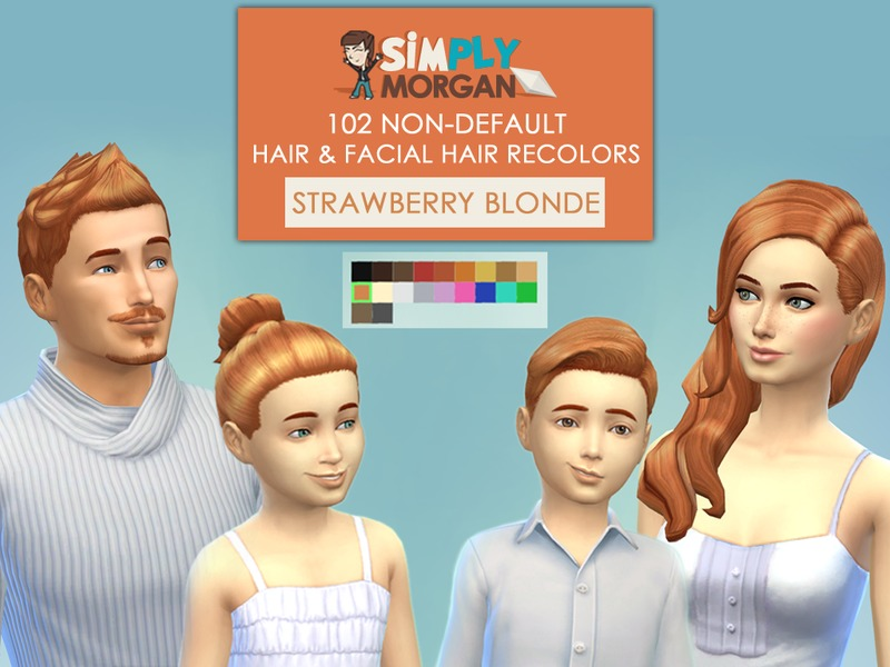 Simplymorgan77 S Strawberry Blonde Hair Non Default Recolors All