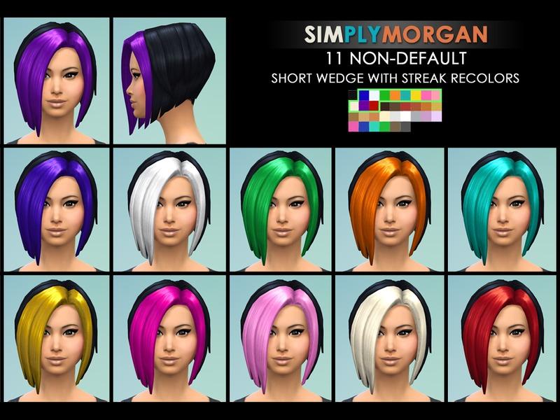 Simplymorgan77s Black Short Wedge With Colored Streaks