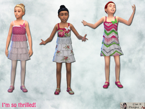 Sims 4 — I'm so frilled by lisakdesigns — I'm so thrilled will give you three new dresses with matching shoes! Each