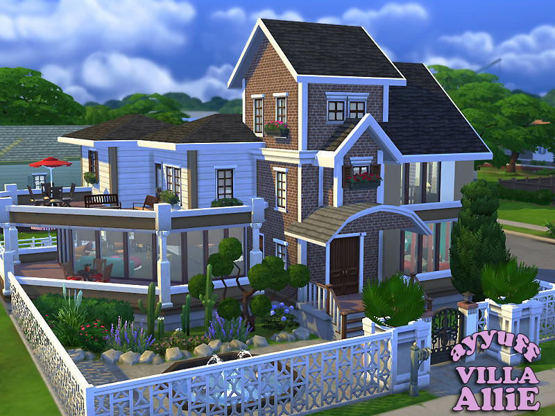 Ayyuff 39 s villa allie furnished for Minimalist house the sims 3