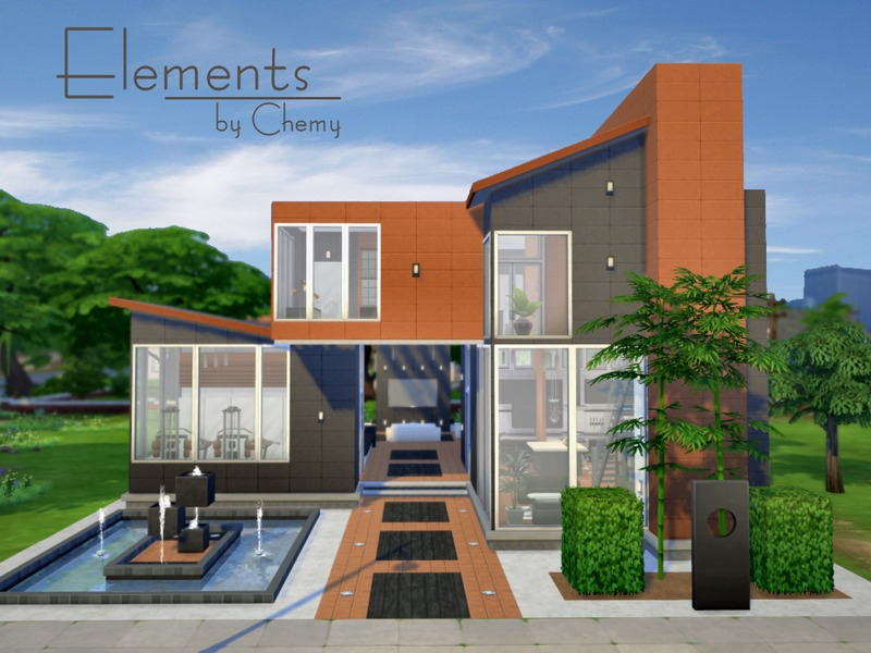 Chemy 39 s elements for Modern house plans sims 4