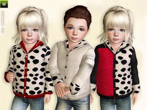 Sims 3 — Dalmatian-Style Jacket by lillka — Dalmatian-style jacket for girls and boys Everyday/Outdoor 3