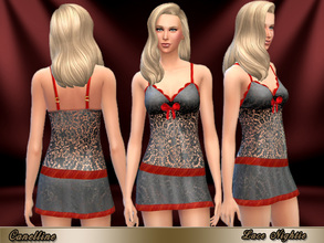 Sims 4 — Lace Nightie Seduction by Canelline — No needs to be in love to be attractive, even for sleeping. This Nightie
