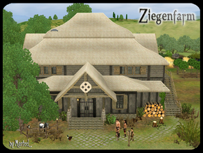 Sims 3 — Ziegenfarm Homestead by murfeel — Ah! The fresh smell of manure in the morning! What could be better than the