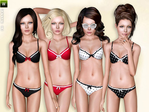 Sims 3 — (Teen) Retro-Look Bikini by lillka — Retro-look bikini or sleepwear for teen girls (Outfit) Swimwear/Sleepwear 4