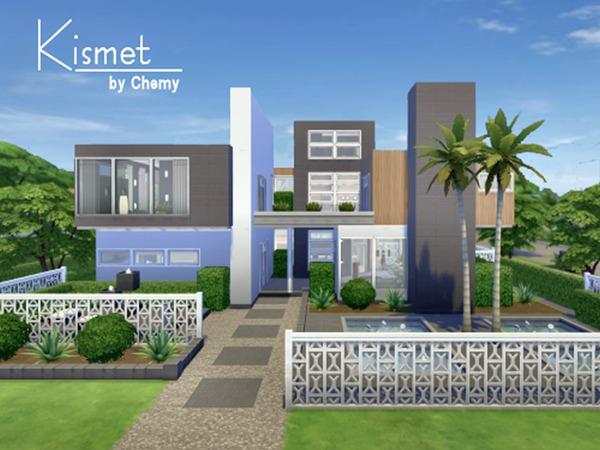Chemy 39 s kismet modern for Sims 4 simple modern house
