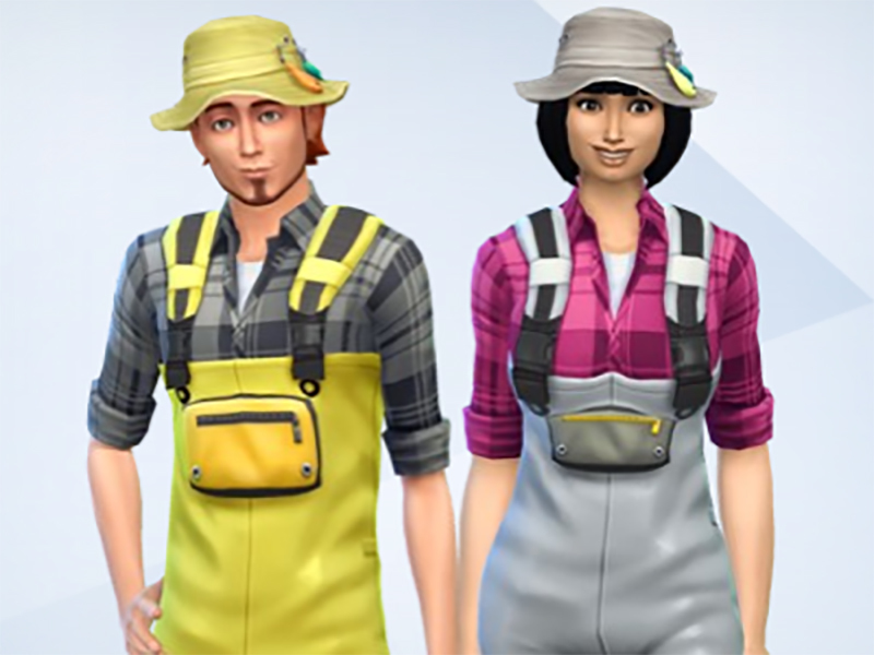 Snaitf 39 s fisherman outfit for Sims 4 fishing