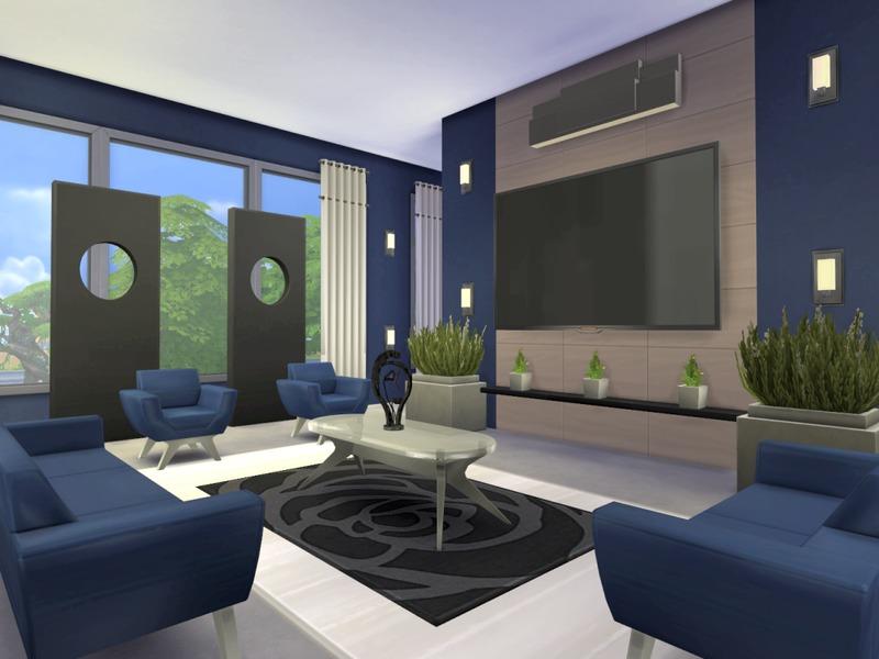 Chemy 39 s kismet modern for Modern living room sims 4