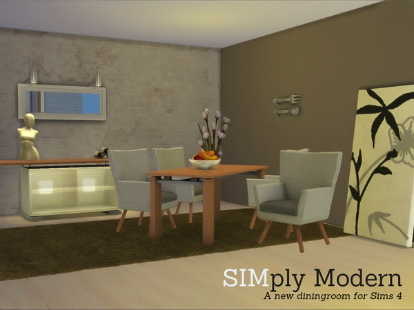 Kayla s sim simply modern dining set by angela