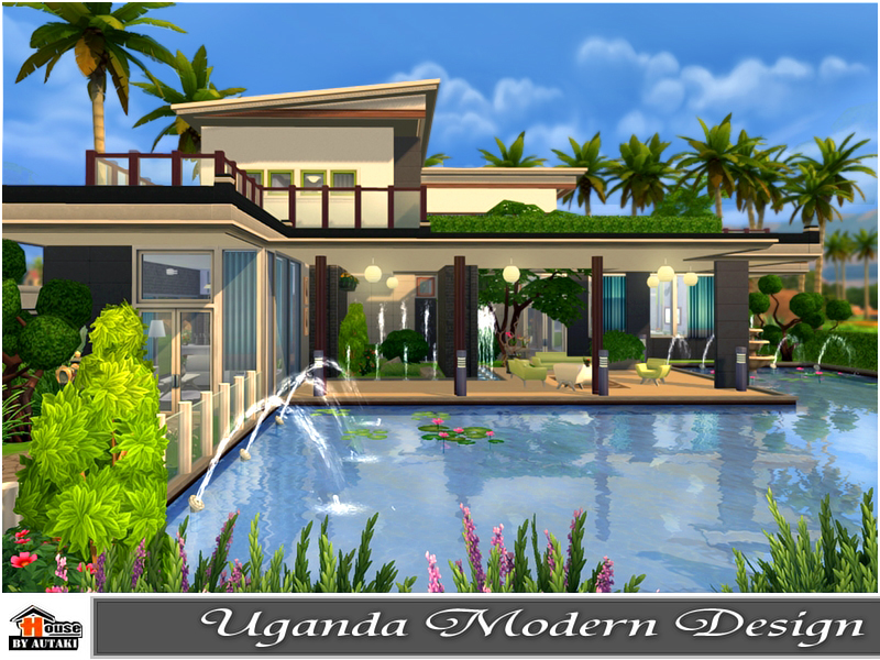 Autaki 39 s uganda modern design for Pool design sims 4