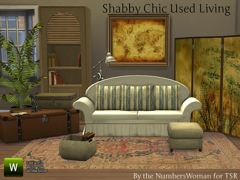 Thenumberswoman 39 s shabby chic used living room - Refurbished living room furniture ...