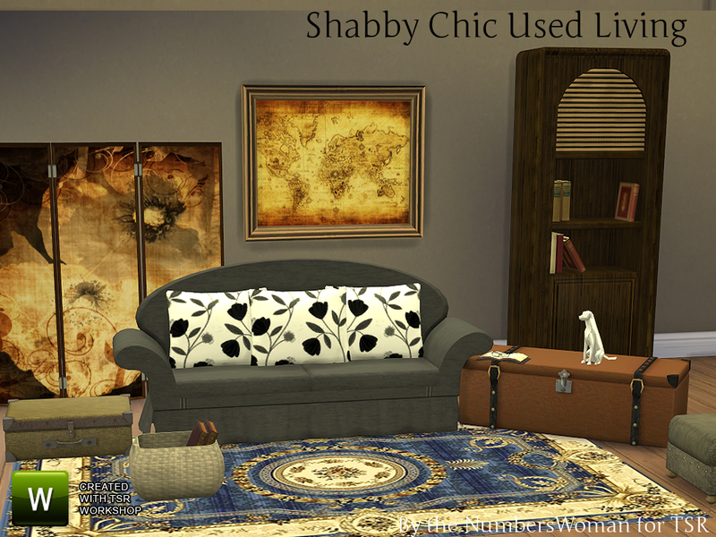 thenumberswoman 39 s shabby chic used living room. Black Bedroom Furniture Sets. Home Design Ideas