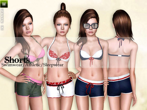Sims 3 — (Teen) Stylish Shorts by lillka — Stylish shorts for teen girls Swimwear/Athletic/Sleepwear 3 styles/recolorable