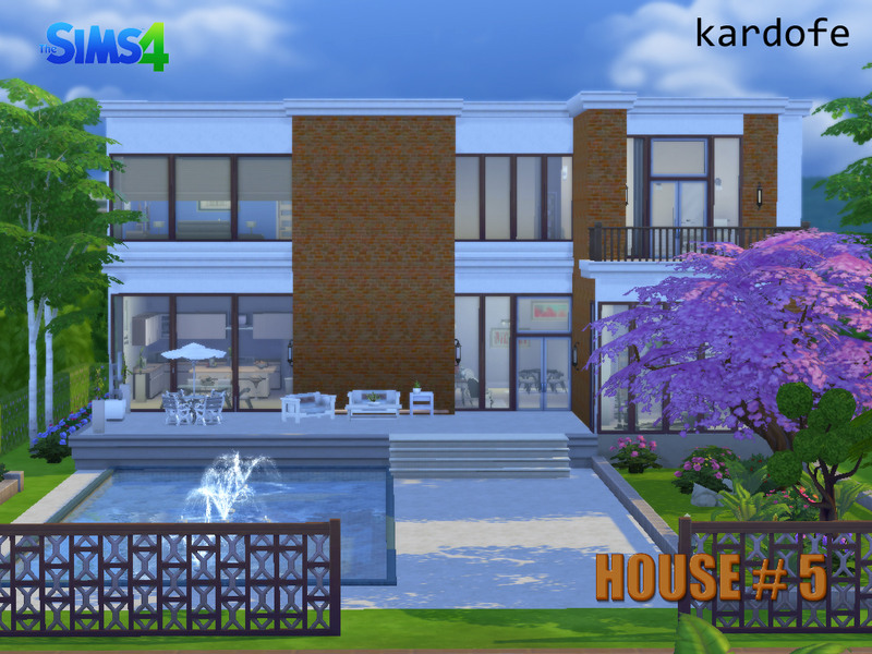 Casa moderna 5 the sims 4 pirralho do game for Casas modernas sims 4 paso a paso