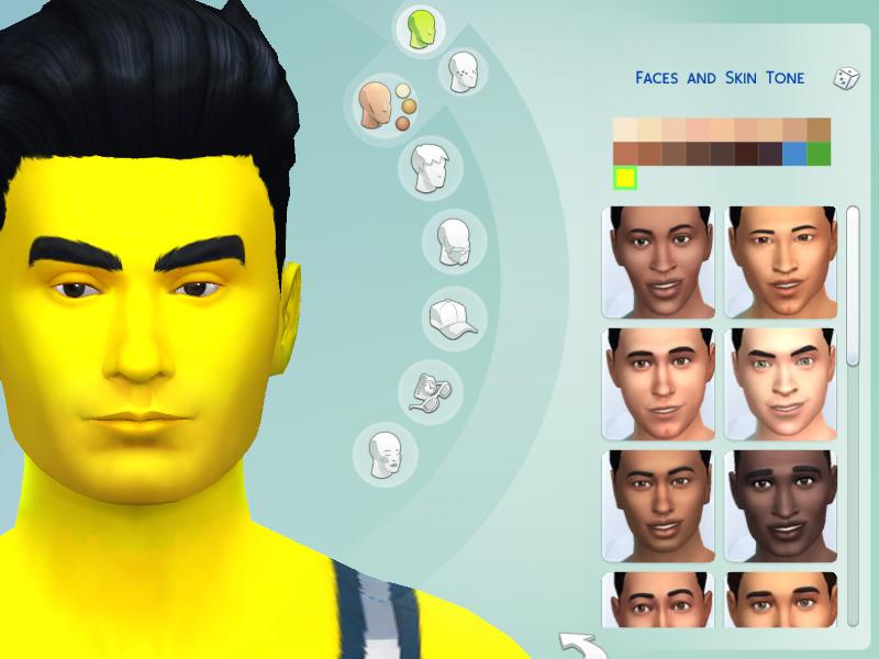 Yellow skin