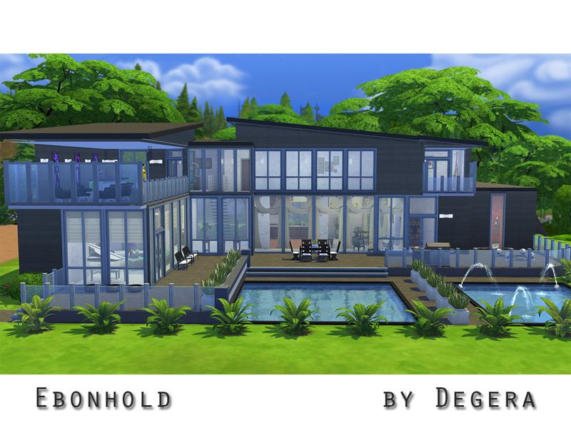 Casa moderna ebonhold the sims 4 pirralho do game for Sims 4 modelli di casa moderna