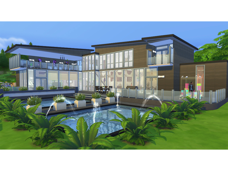 Casa moderna ebonhold the sims 4 pirralho do game for Casas modernas sims 4 paso a paso