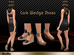 Sims 4 — Cork Wedge Shoes by Canelline — Shoes! The little thing that women love over all! And now, you can have 2 pairs