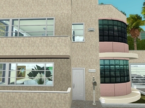 Sims 3 — Small Art Deco Home  by blgfan902 — A small art deco home. It's got two bedrooms, two bathrooms, a large living
