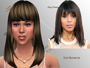 Sims 4 — Kerry Washington, Actress by Rennara — Born in New York, New York this lady loves to act in television,movies
