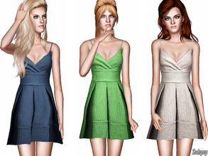 Sims 3 — Textured Babydoll Dress by zodapop — Cute, textured babydoll dress. ~ Custom mesh by me(Zodapop) ~ Custom