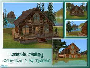 Sims 2 — Lakeside Dwelling by Tigerblue — **REQUIRES BV ONLY** A cosy lakeside home suitable for a small family. Features