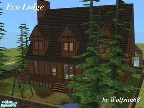 Sims 2 — Eco Lodge by Wolfsim68 — This home has magnificent views from the seperate Living, Dining & Kitchen (with