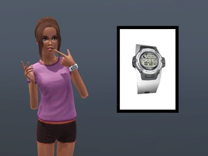 Sims 3 — Casio Baby G Watch by Digitalled — A re-colourable Casio Baby G watch for female teens, young adults and adults.