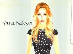 Sims 2 — Yana Isaksen by renegaderunway — This Norwegian television personality stars on the hit show \'The Real