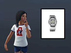 Sims 3 — Baby-G Watch (Child) by Digitalled — Baby-G Watch for children of both genders Credits: - Czeczensk (Mod The