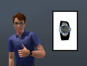 Sims 3 — Casio G-Shock by Digitalled — Casio G-Shock watch for male teens, young adults, adults and elders. Credits: -