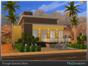Sims 4 — Boogie Banana Bistro by MissDaydreams — Boogie Banana Bistro is a fine commercial venue. Your Sims can brighten