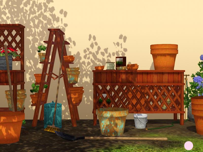 Dot 39 s potting 2 set for Indoor gardening sims 4