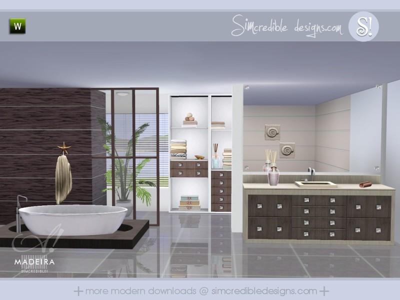 Simcredible 39 s madeira for Bathroom ideas sims 3