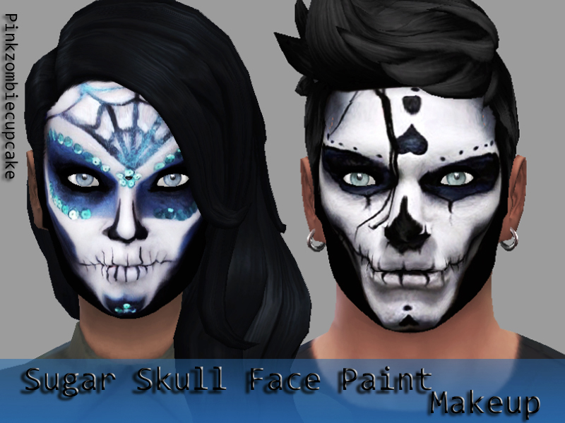 sugar skull face paint makeup - Halloween Skull Face Paint Ideas