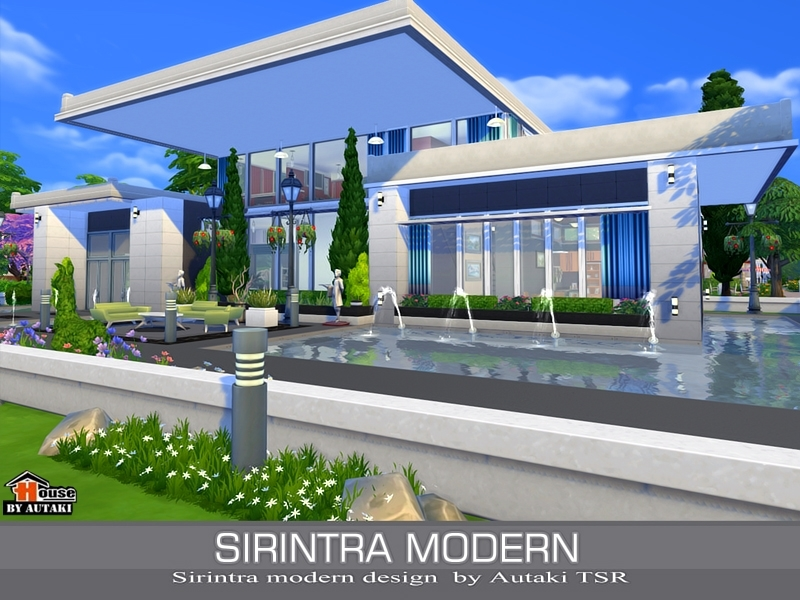 Autaki 39 s sirintra modern design for Simple modern house sims 4