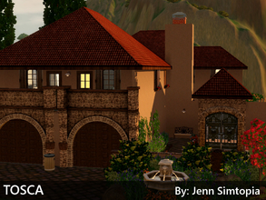 Sims 3 — Tosca by Jenn_Simtopia — Tosca - A Beautiful, warm 4 bedroom, 2.5 bathroom home built on a 35x35 lot. Includes a