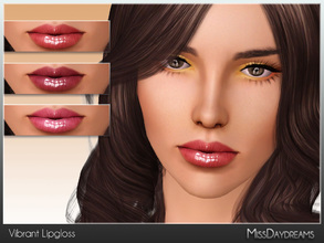 Sims 3 — Vibrant Lipgloss by MissDaydreams — Vibrant Lipgloss is a high shine lipgloss, which will give your Sims amazing