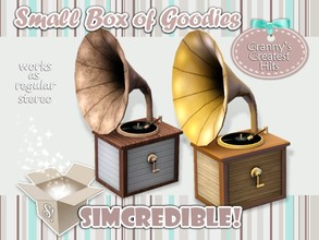 Sims 3 — Granny's Greatest Hits Stereo by SIMcredible! — It's SIMcredible! Small box of goodies #4 - Your lovely source
